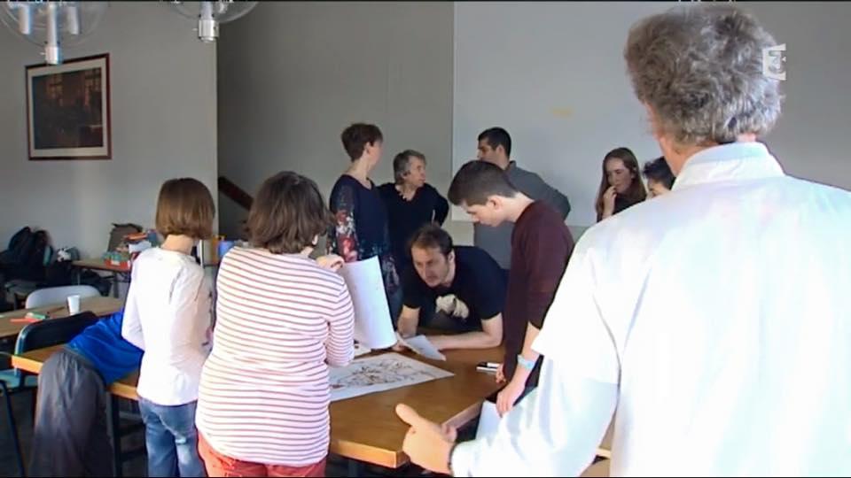 """alt=""""Hub dessinateur de OKKO anime un atelier dessin à l'hopital JPEG  - 47.7ko"""