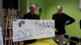 "alt=""Fresque de T. Girod et Kaya© T. Girod et Kaya - Fresque de T. Girod et Kaya réalisée à Anemasse dans le service du Dr Testard JPEG  - 15.2ko"